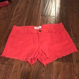JOLT Linen Cotton Coral Shorts - Size 5